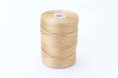 Tan C-Lon 0.9mm Bonded Nylon Heavy Bead Cord-General Bead