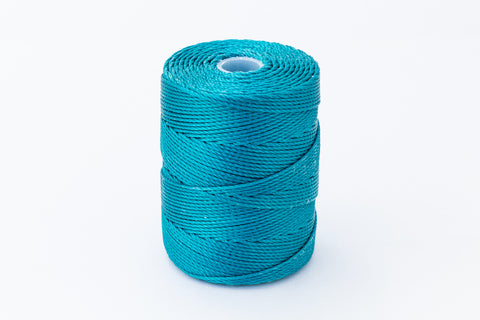 Teal C-Lon 0.9mm Bonded Nylon Heavy Bead Cord-General Bead