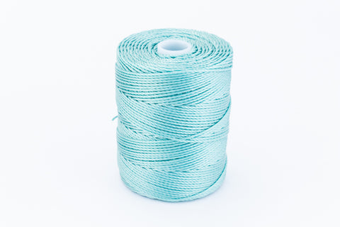 Turquoise C-Lon 0.9mm Bonded Nylon Heavy Bead Cord-General Bead