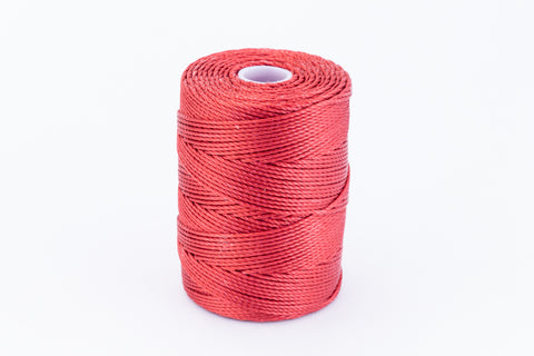 Venetian Red C-Lon 0.9mm Bonded Nylon Heavy Bead Cord-General Bead