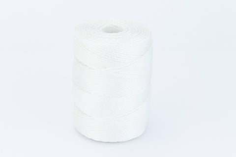 White C-Lon 0.9mm Bonded Nylon Heavy Bead Cord-General Bead