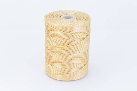 Wheat C-Lon 0.9mm Bonded Nylon Heavy Bead Cord-General Bead