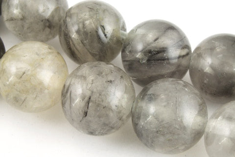10mm Cloudy Quartz Round Polished Bead-General Bead