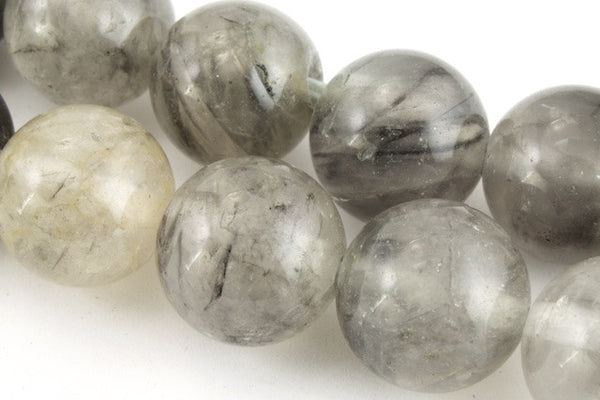 10mm Cloudy Quartz Round Polished Bead