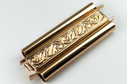 10mm x 18mm Gold Leaf Beadslide Clasp