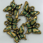 Antique Gold Glitter Butterfly-General Bead