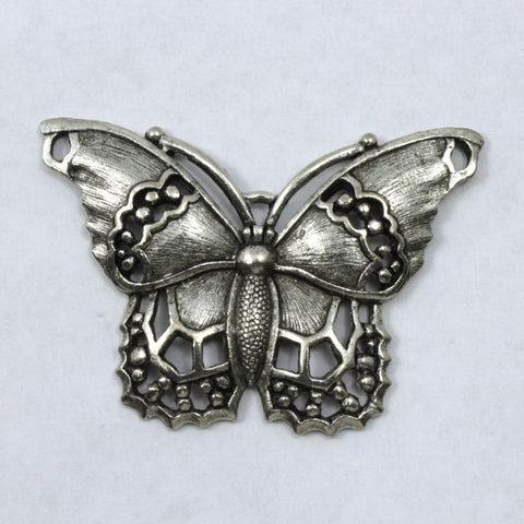 40mm Antique Silver Butterfly Charm-General Bead