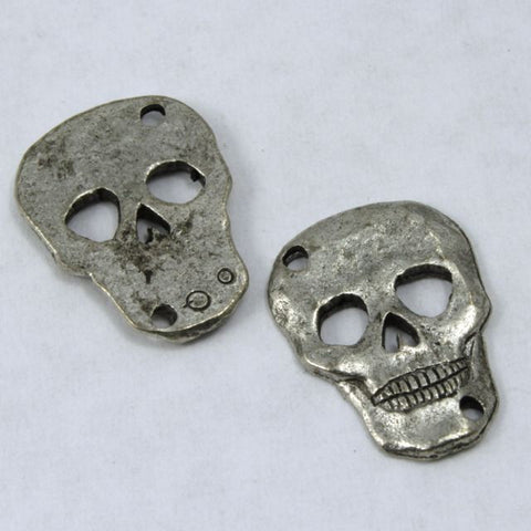 18mm Antique Pewter Skull Link-General Bead