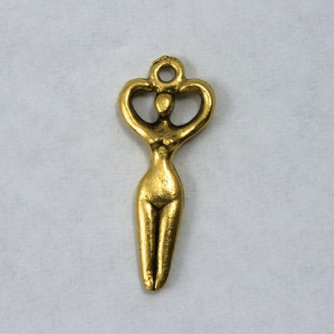 24mm Antique Gold Goddess Charm-General Bead