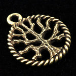 15mm Antique Brass Tree Charm-General Bead