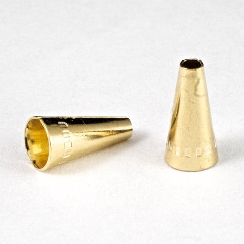 1/2 Inch Gold Smooth Metal Cone #COA005