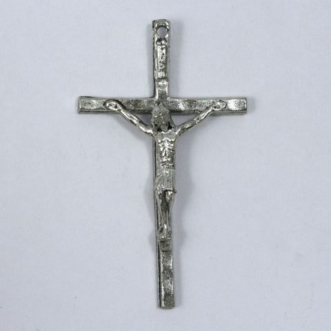 48mm Silver Crucifix-General Bead
