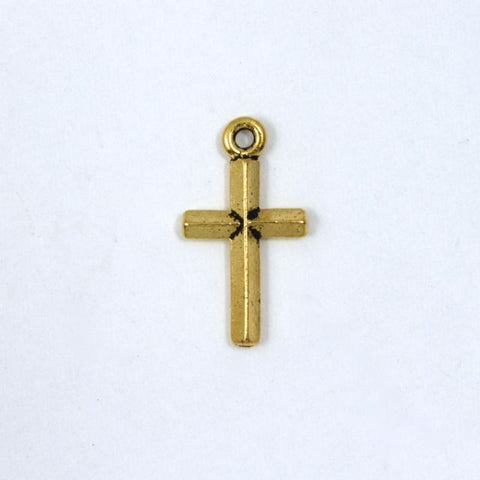 20mm Gold Simple Cross-General Bead