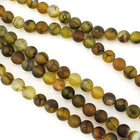8mm Round Matte Dyed Amber Crackled Agate Strand-General Bead