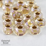 6/0 Matte Gold Lined Crystal AB Seed Bead (40 Gm, 1/2 Kilo) #CSB140-General Bead