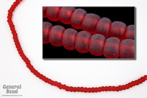 6/0 Matte Transparent Ruby Seed Bead (40 Gm, 1/2 Kilo) #CSB177-General Bead