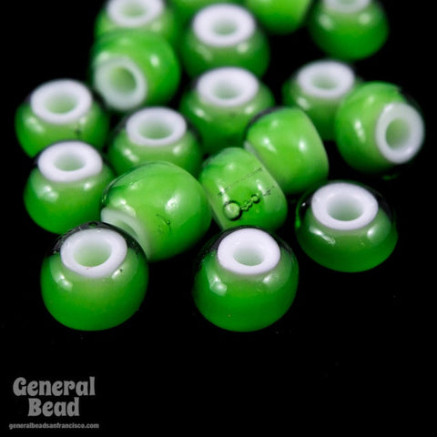 6/0 White Heart Green Seed Bead (20 Gm, 1/2 Kilo) #CSB237-General Bead