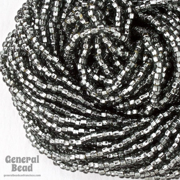 10/0 Silver Lined Black Diamond Czech Seed Bead