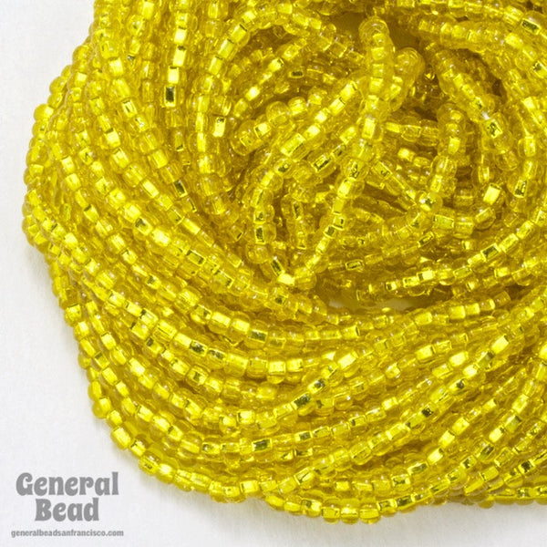 10/0 Silver Lined Yellow Czech Seed Bead