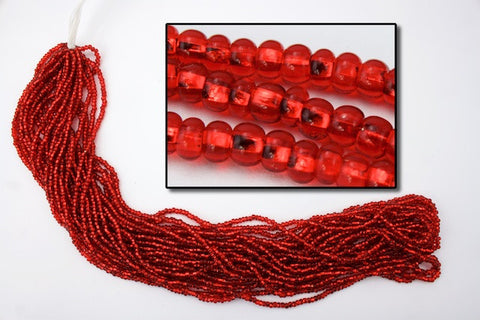 10/0 Silver Lined Ruby Czech Seed Bead (10 Gm, Hank, 1/2 Kilo) #CSC006