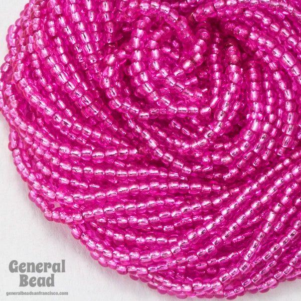 10/0 Silver Lined Pink Czech Seed Bead