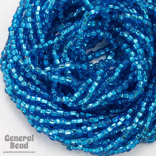 10/0 Silver Lined Turquoise Czech Seed Bead