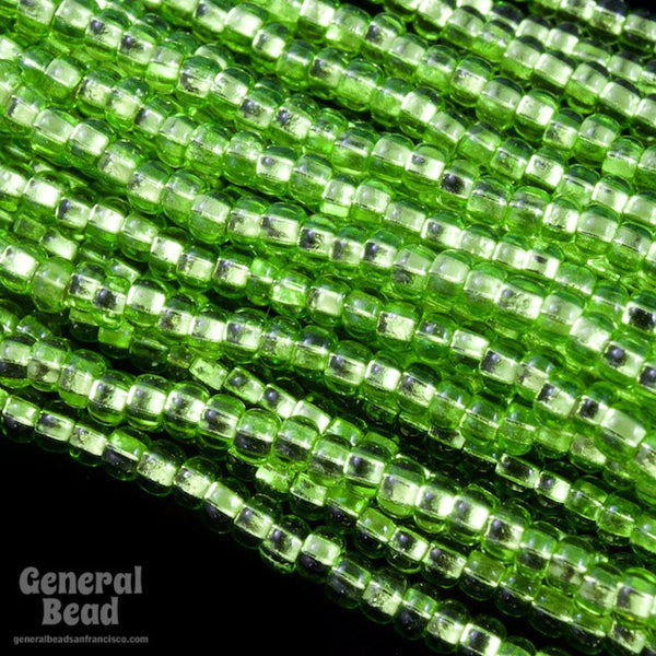 10/0 Silver Lined Lime Czech Seed Bead