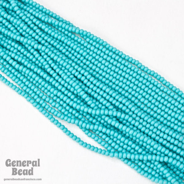 10/0 Opaque Aqua Czech Seed Bead (Hank) #CSF002