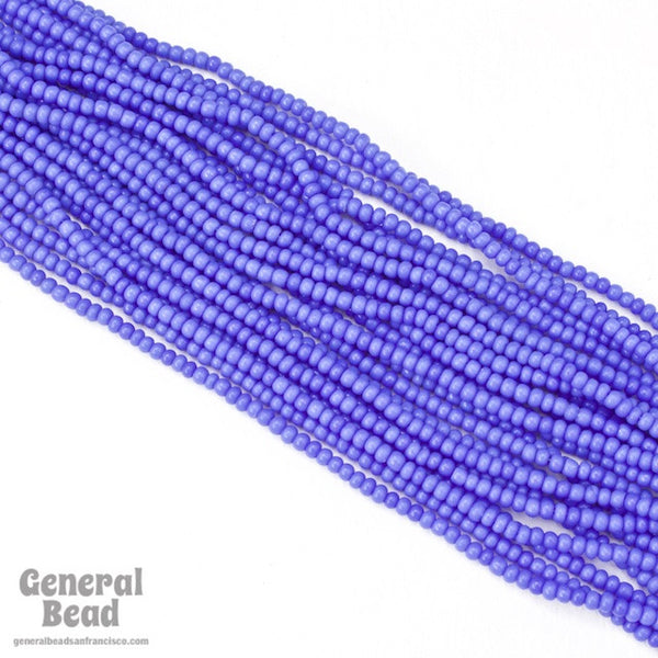 10/0 Opaque Periwinkle Czech Seed Bead