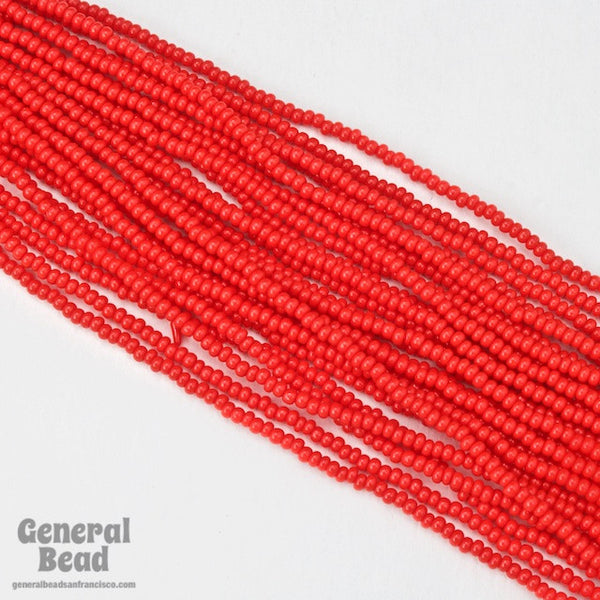 10/0 Opaque Chinese Red Czech Seed Bead (10 Gm, Hank, 1/2 Kilo) #CSF010