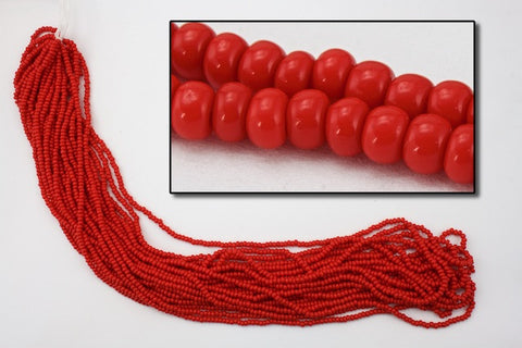 10/0 Opaque Red Czech Seed Bead (10 Gm, Hank, 1/2 Kilo) #CSF014