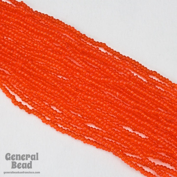 10/0 Transparent Orange Czech Seed Bead (Hank) CSF024