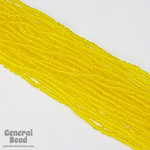10/0 Transparent Yellow Czech Seed Bead (10 Gm, Hank, 1/2 Kilo) #CSF028