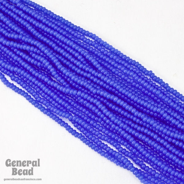 10/0 Opal Transparent Blue Czech Seed Bead