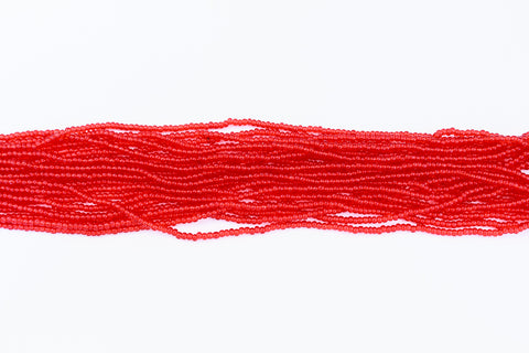 10/0 Transparent Light Ruby Czech Seed Bead (10 Gm, Hank, 1/2 Kilo) #CSF066