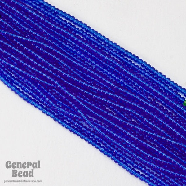 10/0 Transparent Capri Blue Czech Seed Bead