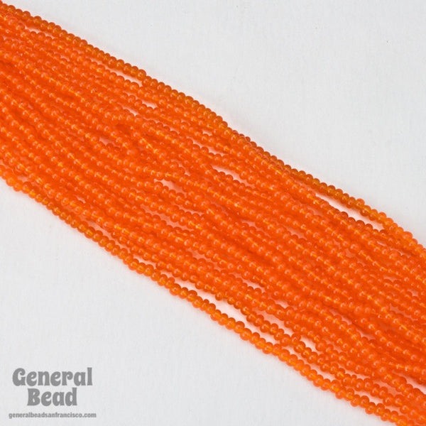 10/0 Transparent Tangerine Czech Seed Bead