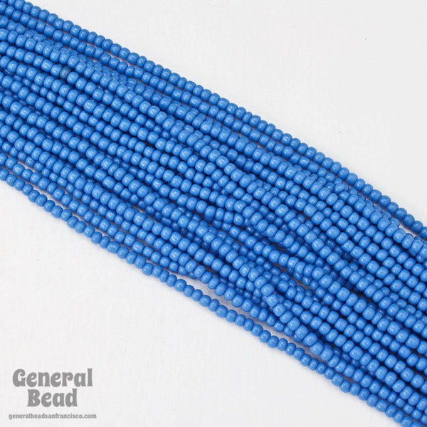 10/0 Opaque Sea Blue Czech Seed Bead