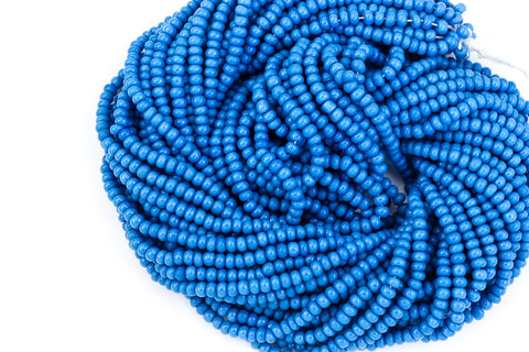 15/0 Opaque Slate Blue Czech Seed Bead (1/2 Kilo) #CSK007-General Bead