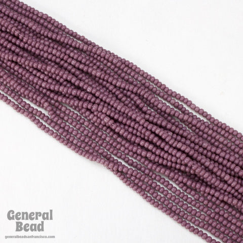 10/0 Opaque Mauve Czech Seed  Bead (10 Gm, Hank, 1/2 Kilo) #CSF102