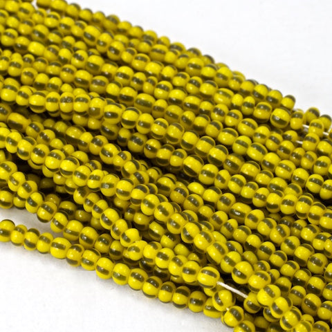 15 gram tube 180 Vintage Micro Czech Seed Beads Transparent Yellow