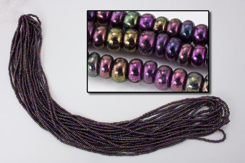 10/0 Metallic Purple Iris Czech Seed Bead (10 Gm, Hank, 1/2 Kilo) #CSF041
