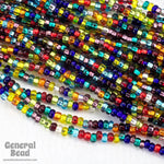 11/0 Silver Lined Multi Mix Czech Seed Bead (10 Gm, Hank, 1/2 Kilo) #CSG264-General Bead