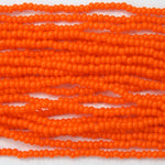 13/0 Opaque Dark Orange Seed Bead-General Bead