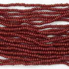 14/0 Opaque Brick Red Czech Seed Bead-General Bead