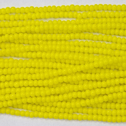14/0 Opaque Yellow Czech Seed Bead-General Bead