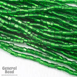 10/0 Silver Lined Green 2 Cut Czech Seed Bead (Hank) #CSM010-General Bead