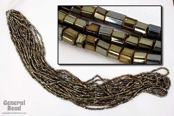 10/0 Metallic Brown Iris 2 Cut Czech Seed Bead