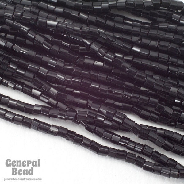 10/0 Opaque Black 2 Cut Czech Seed Bead