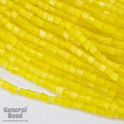 10/0 Satin Yellow 2 Cut Czech Seed Bead (Hank) #CSM030-General Bead